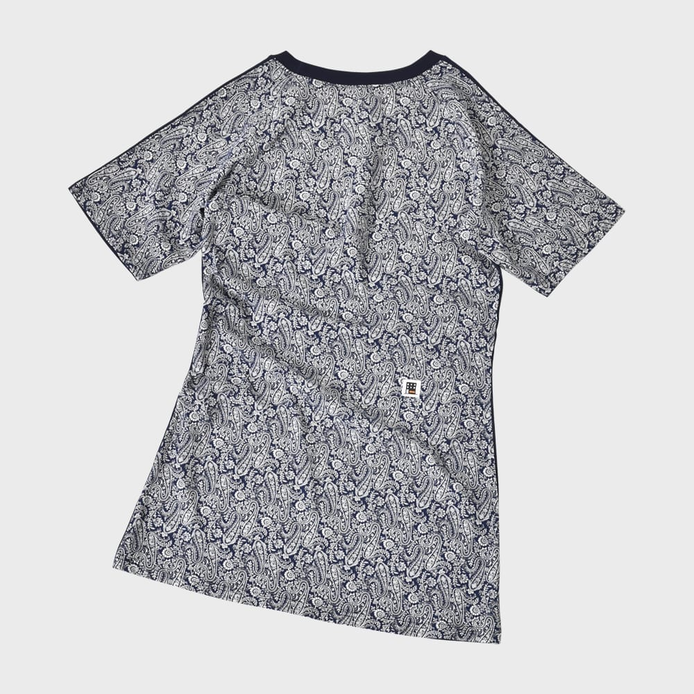 FIFTY-FIFTY SHORT SLEEVE ONE-PIECE (NAVY)| 프리키쉬빌딩