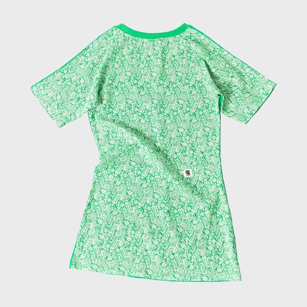 FIFTY-FIFTY SHORT SLEEVE ONE-PIECE (GREEN)| 프리키쉬빌딩